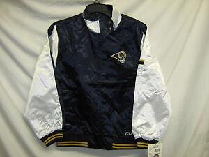 St-Louis-Rams-NFL-Youth-Light-Weight-Satin-Jacket-Navy-White-Medium-10-12-IR