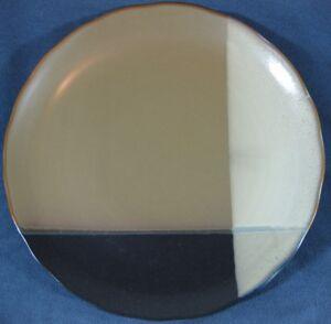 Sango-Gold-Dust-Black-5022-Round-Chop-Plate-Serving-Platter