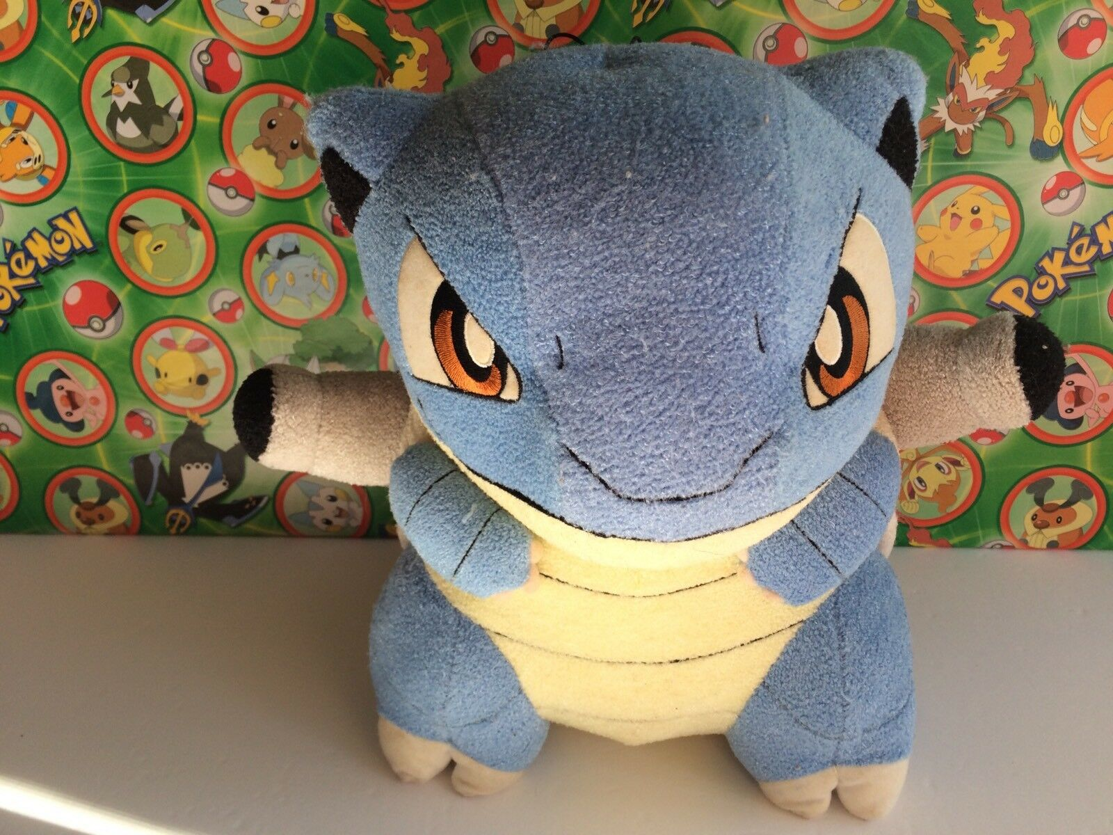 Pokemon Plush Blastoise DX Big 11  Banpresto 2005 2005 2005 UFO Huge doll Stuffed figure ecb15a