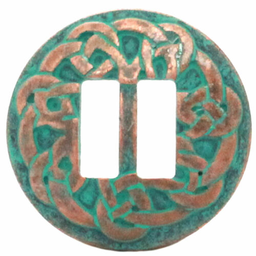 """Pictish Knot Celtic Slotted Concho Copper Patina Plated 1-1//2/"""" 20716-90"""