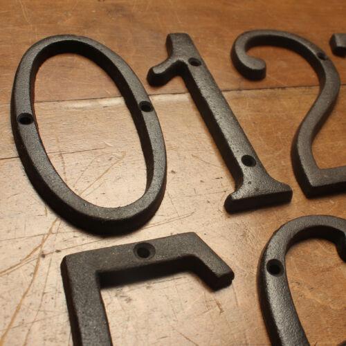 15.2cm Fonte Numéro de Porte Chiffres Adresse Antique Traditionnel Style Noir