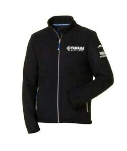 Genuine-Yamaha-Paddock-Blue-Men-039-s-Matsue-Black-Fleece-Jacket-NEW