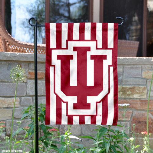 Indiana Hoosiers Candy Stripe Garden Flag Yard Banner