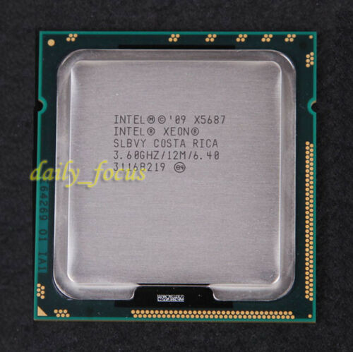 Intel Xeon X5687 SLBVY 3.6 GHz AT80614005919AB CPU Processor LGA 1366 3200 MHz