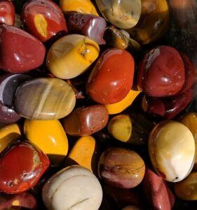 Crystal Healing Tumble Mookite Chakra Stone Mookaite Jasper Tumbled Stone