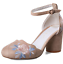Women-Ankle-Strap-Embroidered-Floral-Pumps-Casual-Chunky-Block-Mid-Heels-Shoes