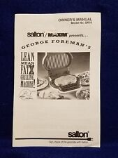 George foreman lean mean fat reducing grill machine cookbook connie item 8 pre owned george foreman lean mean fat reducing grilling machine manual 1995 pre owned george foreman lean mean fat reducing grilling machine fandeluxe Images