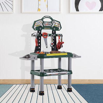 Kinder Arbeitstisch Spielzeug Werkbanktisch mit 74 Zubehör Rollenspiel Spielzeug