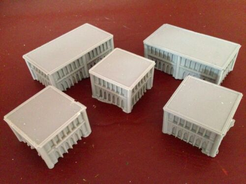 1//300 6mm Terrain Warhammer Epic Adeptus Titanicus /& Resin Buildings x 5