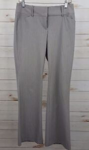 Express-Editor-Gray-Striped-Women-039-s-Dress-Pants-Size-4-Actual-30-x-33