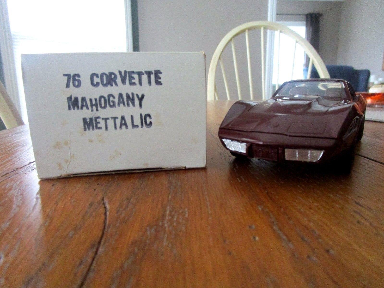 1976 Corvette Coupe GM Factory Original Promo Mahogany Metallic 1 25Th MIB