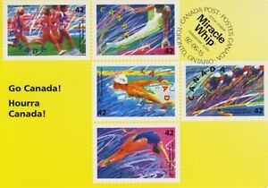 Go-Canada-Hourra-Canada-Athletes-Miracle-Whip-Olympics-Paid-Postage-Postcard-D20