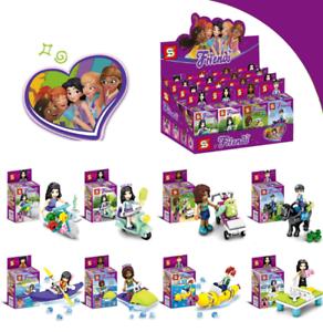 Sembo-Blocksteine-Maedchen-Serie-8PCS-Mini-Figur-Pferd-Motorrad-Kinder-Spielzeug