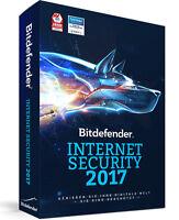 Bitdefender Internet Security 2017 (1, 3, 5 Und 10 Pc Für 1, 2 Und 3 Jahre)