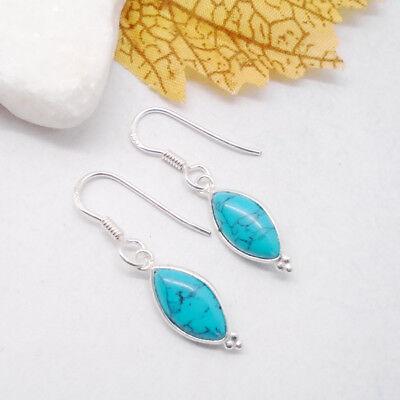Lapislazuli eckig blau schlicht Design Amulett Anhänger 925 Sterling Silber neu