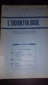Rivista Francaise Di Odontoiatria N° 7-8 Mensile Luglio-Agosto 1950 ABE