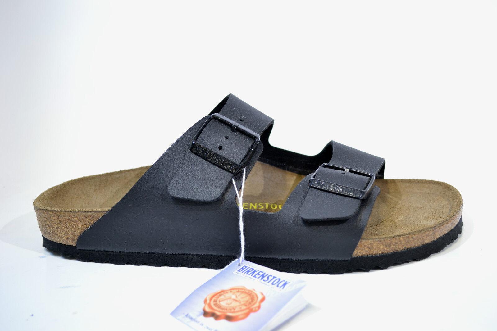 Birkenstock Pantoletten Birko-Flor Arizona schwarz BF Birko-Flor Pantoletten 051793 Schuhe REDUZIERT 79ab7a