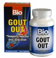 Bio Nutrition Gout Out 60 Vegetarian Capsules