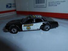 VTG 1977 HOT WHEELS SHERIFF 701 BLACK POLICE PATROL CRUISER LOOSE  MALAYSIA