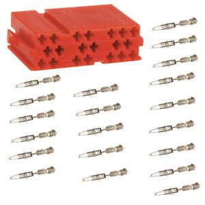 Auto Radio 20 poliger Mini ISO Stecker Leer-Gehäuse + Micro Timer Kontakte