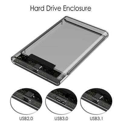 Portable 2.5 inch USB 2.0//3.0//3.1 Type-C Hard Drive Enclosure External HDD Cases