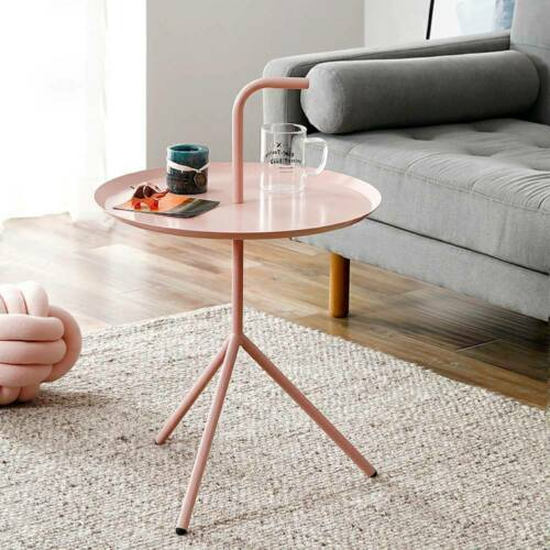 Round Coffee Table Occasional Living Room Side End Display Stand Bedside Desk UK
