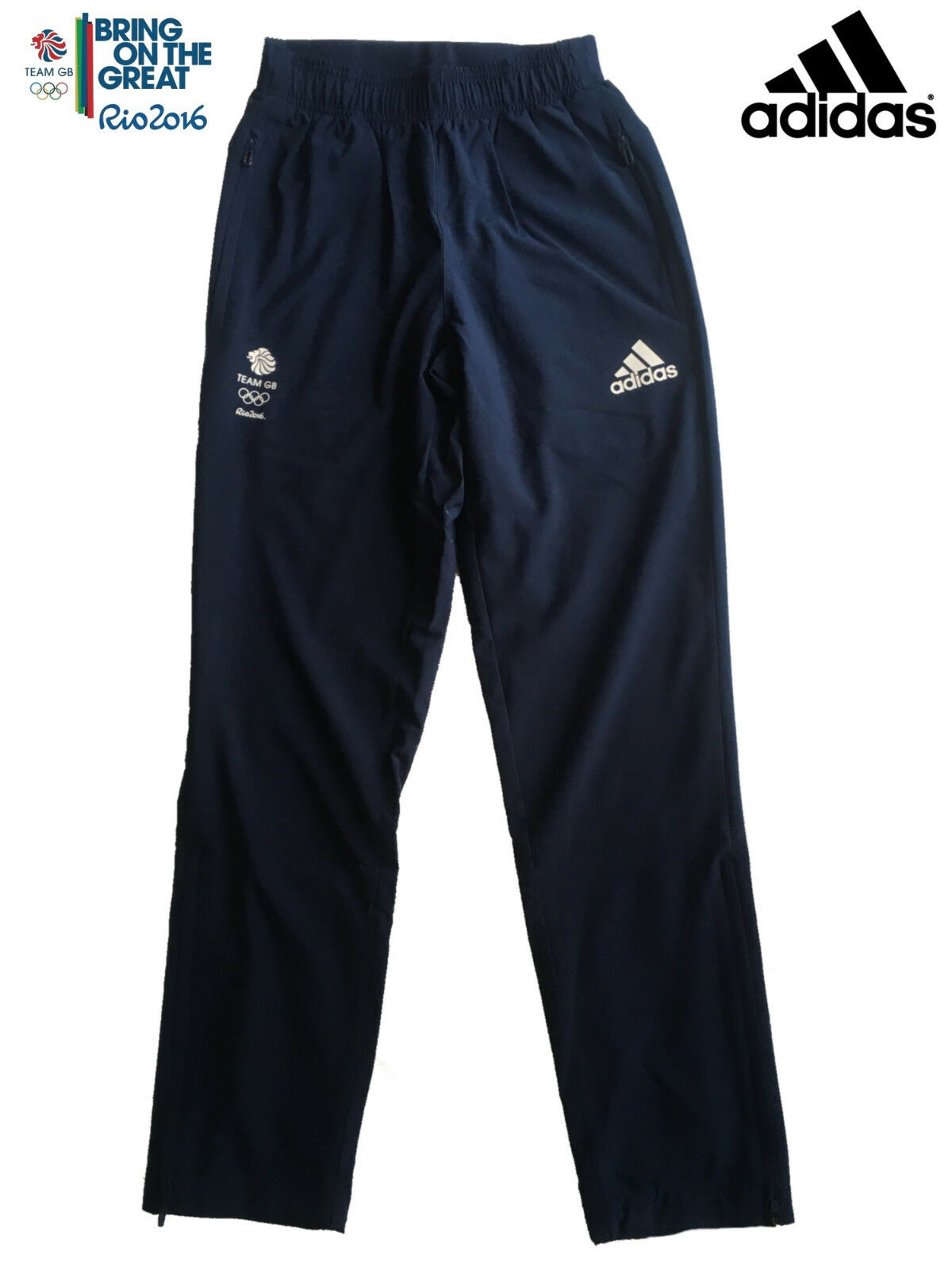 ADIDAS TEAM GB RIO 2016 ELITE ATHLETE OLYMPIC PRESENTATION PANTS Size 40 L