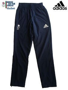 """Adidas Team Gb Rio 2016 Elite Athlète Olympique Présentation Pantalon Taille 38""""-afficher Le Titre D'origine"""