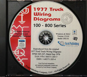 1977 Ford Truck Wiring Diagrams (100-800 Series) Bronco ...
