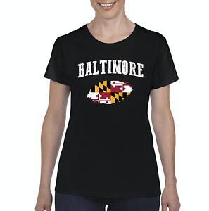 Baltimore-Maryland-Women-Shirts-T-Shirt-Tee