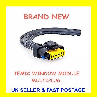 Megane CC Convertible 6 Pin Temic Window Module Motor Wiring Harness connector