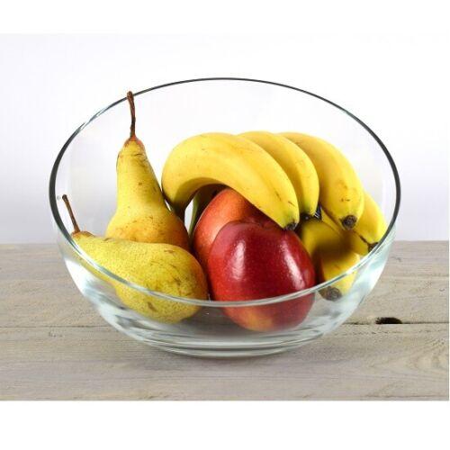 Large Handmade en verre transparent Bowl bagatelles salade de fruits plat 18 cm