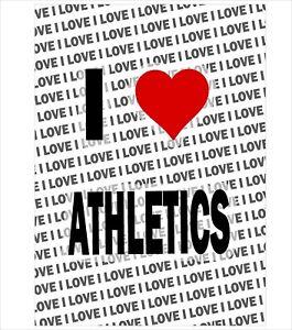 100% Vrai I Love Athletics - A3 Affiche - Cadeau Anniversaire Noël Chaussette