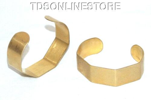 5 Sided Brass Bracelet Cuff Blanks For Jewelry Making 3//4 inch Pkg Of 2