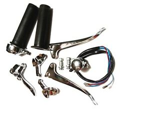 NEW-ROYAL-ENFIELD-COMPLETE-LEVER-ASSEMBLY-SWITCH-KIT-VINTAGE