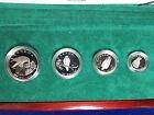 1996 Canada Platinum Peregrine Falcon 4 coin Proof Set 1.85 Oz Rare 675 Mintage
