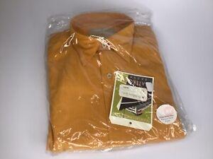 Madeleine Finn Vintage dress shirt NEW OLD STOCK mint in bag brown/pumpkin L-XXL