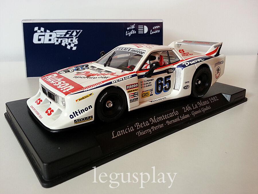 Slot Coche SCX Scalextric Fly 07501 Lancia Beta MonteCochelo 24H Le Mans 1982 GB39L