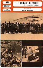 Fiche Cinéma. Movie Card. Le courage du peuple (Bolivie) Jorge Sanjines 1971