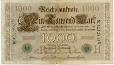 ALLEMAGNE GERMANY 1000 M reichsbanknote 1910 état voir scan 845