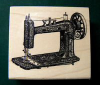 P11 Victorian Sewing Machine 2.4x2 Rubber Stamp Wm