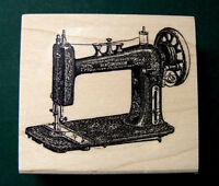 P11 Victorian Sewing Machine 2.4x2 Rubber Stamp Wm