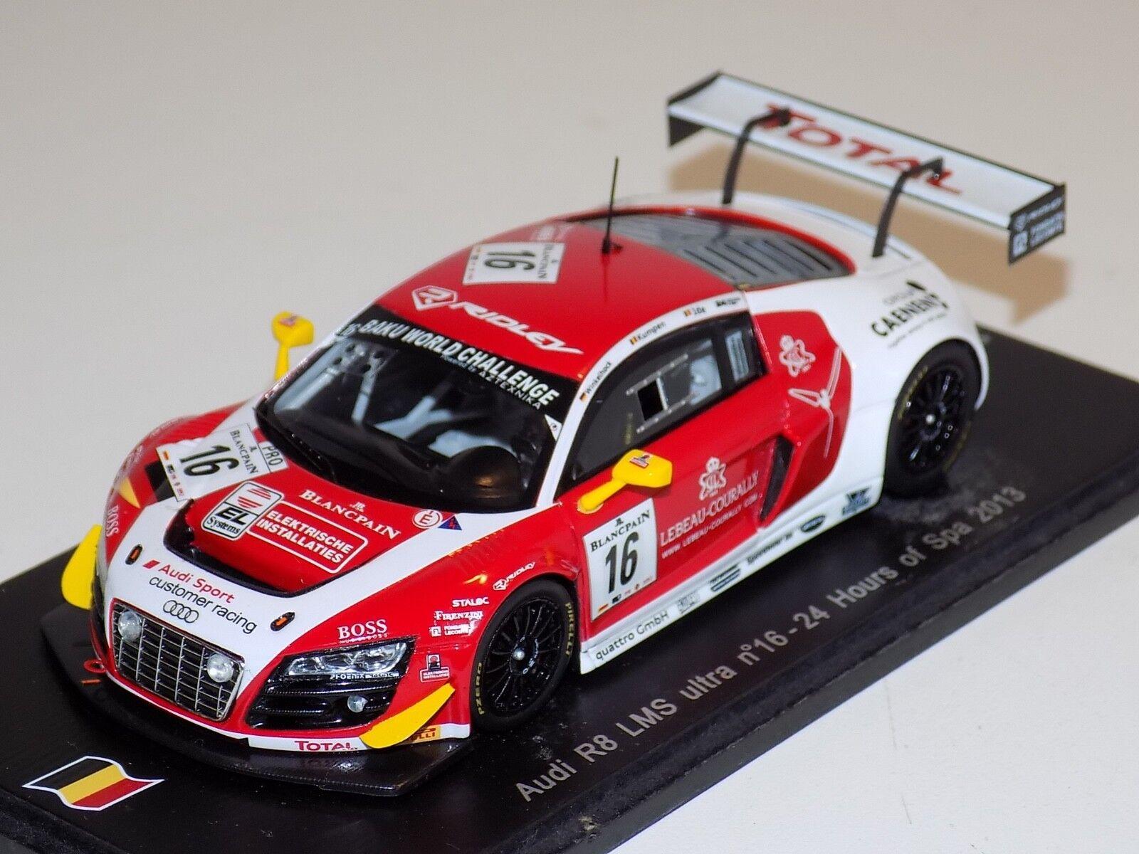 1 43 Spark Audi Audi Audi R8 LMS Ultra Car Hours of Spa 2013  SB047 760e4b