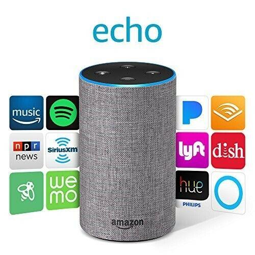 Amazon Echo (2nd Generation) Smart Assistant - Heather Grey Fabric - Brand New