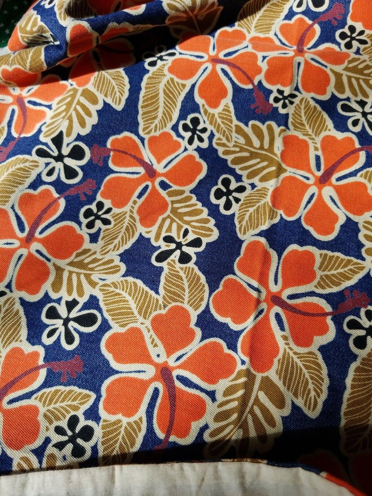 Twin Duvet Pillow Sham Bedskirt Set HAWAIIAN Tan orange Denim bluee Chenille