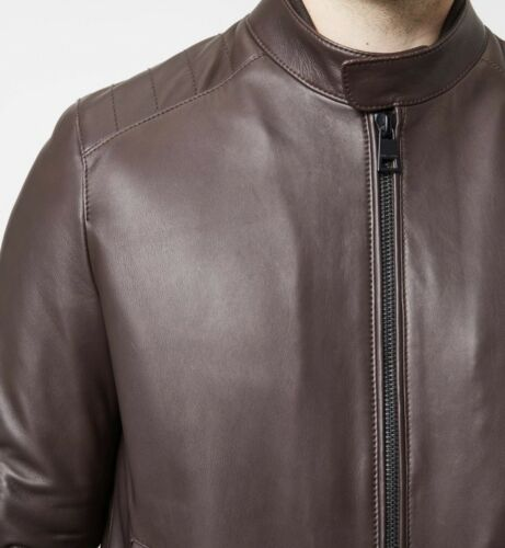 Fit 50 Honwnzx7 Regular Baldessarini Jacket Leather In Brown Lamb Size 35RqSjc4LA