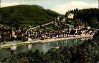 Hirschhorn am Neckar color Ansichtskarte Postkarte 1963 gelaufen gebraucht