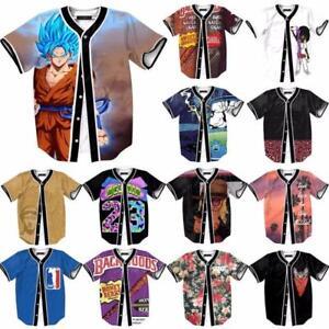 New 3D Graphic Baseball Uniform Mens Womens T-Shirt Sweat Top Casual ... 970709ce3