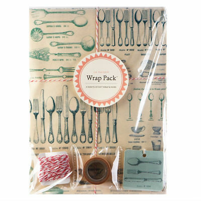 La Maison Wrap Pack Cavallini /& Co Vintage French Theme Gift Wrap Kit