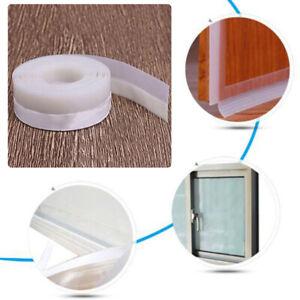 1xBrown-Transparent-Windproof-Silicone-Sealing-Strip-Bar-Home-Door-Sealing-Strip